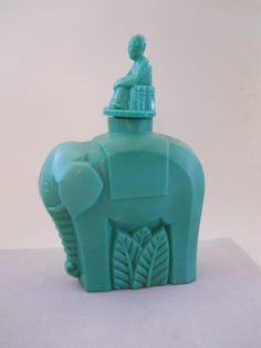 Art Deco Figural Elephant Perfume Bottle with Figural Stopper France