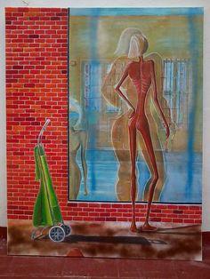 El reflejo, 116 x 86 cm, acrílico y óleo sobre lienzo