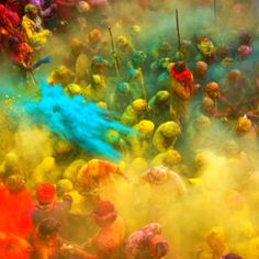 Holli Festival - Hindus celebrate the religious Hindu Festival of Colours in the months between February and March.