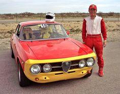 A friend of mine and a borrowed Alfa Romeo 1750 GTV