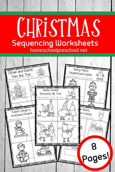 This Christmas sequence worksheet pack is perfect for the upcoming holidays. Young learners will sequence and retell Christmas stories. Educational Activities For Preschoolers, Christmas Activities For Kids, Preschool Education, Hands On Activities, Preschool Activities, Art Education, Play Based Learning, Learning Through Play, Kids Learning