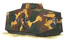 German tank A7V WWI by JozsefSvab
