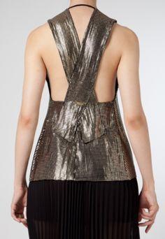 Blusa Calvin Klein Foil Craquelado Preta