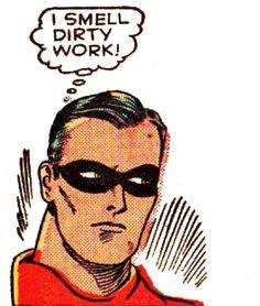 "Comic Boy's Say.. ""I smell dirty work ! "" #Vintage #Comic #Pop Art"