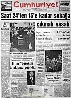 Cumhuriyet gazetesi 23 mayıs 1971 Newspaper Headlines, Old Newspaper, Andromeda Galaxy, Historical Pictures, Astronomy, Nostalgia, History, Istanbul, Hairstyle Man