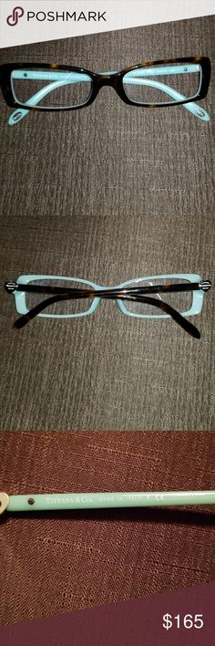 Sale til 11-23 Tiffany & co eyeglass frames tortoise shell will tiffany blue arms with silver heart w/ return to tiffany.. no case it sold on different site... Tiffany & Co. Other