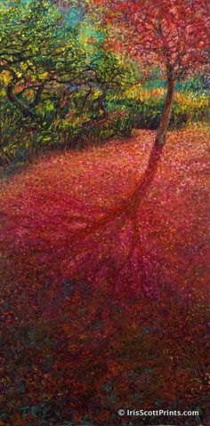 MOMIJI - by Iris Scott, finger painting artist. Visit IrisScottPrints.com