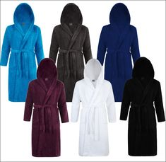 a2e096f8cb Towelling Hooded Dressing Gown Hairdresser