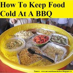 How To Keep Food Cold At A BBQ