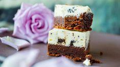 - Brownies med Oreo-Ostekrem - Brownie with Oreo Cheese Cream Oreo Brownies, Brownie Cookies, Oreos, Dessert Drinks, Dessert Recipes, Chocolate Heaven, Food Obsession, Eat Dessert First, I Love Food