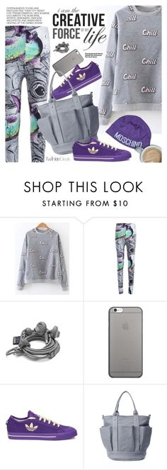 """""""Street Style"""" by pokadoll ❤ liked on Polyvore featuring Native Union, adidas, Hedi Slimane, Moschino, polyvoreeditorial and polyvoreset"""