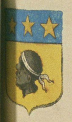 François LE MORE, bourgeois de Grasse. Porte : d'or, à une tête de More de sable, tortillée d'argent ; et un chef d'azur, chargé de trois étoiles d'or | N° 36