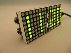 Un reloj a lo Matrix con Arduino #arduino #diy #makers