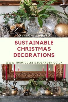 Eco-friendly natural Christmas decorations ideas, using garden clippings. Easy, cheap and very stylish! #christmas #backyard #middlesizedgarden #garden Garden Party Decorations, Christmas Decorations, Holiday Decor, Christmas Garden, Christmas Bulbs, Vintage Garden Parties, Insect Hotel, Natural Christmas, Diy Wreath