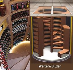 The wine cellar for every home of . The wine cellar for every home of JMF - Spiral Wine Cellar, Wine Cellar Basement, Home Wine Cellars, Wine Cellar Design, Wine House, Secret Rooms, Wine Cabinets, Wine Storage, Interior Design Living Room