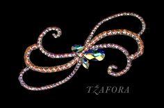 Ballroom hair accessories and ballroom jewelry made with Swarovski, available at www.tzafora.com © 2015 Tzafora