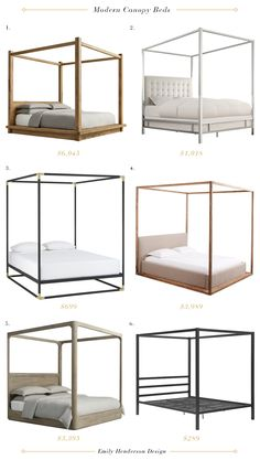 The 32 Beds That I Almost Bought for My Bedroom – Emily Henderson As 32 camas que quase comprei no meu quarto – Modern Canopy Beds Modern Canopy Bed, Canopy Bedroom, Room Ideas Bedroom, Home Bedroom, Modern Bedroom, Bedroom Decor, Canopy Beds, Platform Canopy Bed, Home Decor Ideas