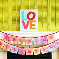 decoración colorida para San Valentín
