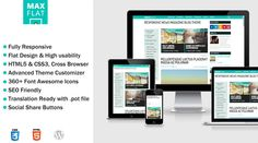 MaxFlat - Fully Responsive Theme by netbiel on Creative Market