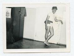 VINTAGE PHOTO CUTE JOCKSTRAP UNDERWEAR BULGE SOLDIER BUDDY BOY SNAPSHOT GAY