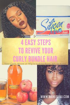 Your Curly Bundle Hair Looking DUSTY? Here's 4 Easy Steps to Revive Curly Bundle Hair!