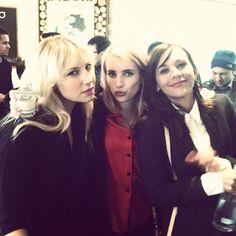 Emma Roberts, Rashida Jones & Ari via Emma's instagram