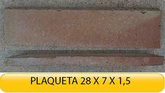 Plaqueta de #cerámica #rústica de 28x7x1,5  #construcción #rehabilitación #reformas
