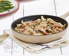 This delicious chicken supreme recipe is packed full of Speed and Protein foods, making it fantastic for anyone on Extra Easy SP. http://www.slimmingworld.com/recipes/chicken-supreme.aspx.......(This is lovely.I dont add salt to season as the bacon is enough)...I also have added a couple of chillis and a pepper..also exchanged the quork with low philli....yumyum