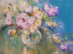 Lynette Cramb - Flowers in Bowl