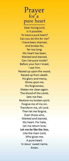 Prayer for a Pure heart