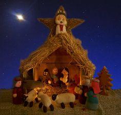 Knitted Nativity Knitting Projects, Nativity, Christmas Ornaments, Holiday Decor, Painting, Art, Art Background, The Nativity, Christmas Jewelry