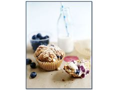 Donna Hay's Blueberry Oat and Yoghurt Muffins, get the recipe here on the Domayne Style Insider Blog.