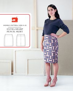 Introducing the new Liesl + Co. Extra-Sharp Pencil Skirt sewing pattern. Make it part of your core wardrobe.