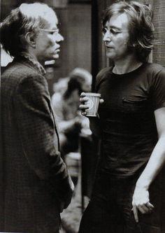 Warhol & Lennon...Lennon thinking he's a little strange...