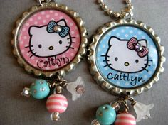 Hello Kitty bottlecap necklace