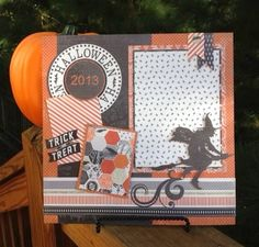 Traci used Carta Bella's Happy Hauntings Collection Kit to create this layout. frosted-designs.com