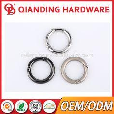 Manufacturer OEM cheap price shiny gold zinc alloy spring round O gate ring for handbag