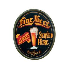 Fine Beer Always Served Here Pub Sign Ram Gameroom Products Signs Wall Decor Home Decor