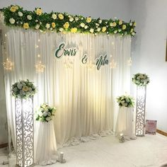 Best 11 [Video] The 10 Best Home Decor (in the World) Wedding stage decorations, Engagement decorations, Church… in 2020 Wedding Stage Backdrop, Wedding Backdrop Design, Wedding Stage Design, Wedding Hall Decorations, Engagement Decorations, Backdrop Decorations, Stage Decoration For Wedding, Wedding Backdrops, Ceremony Backdrop