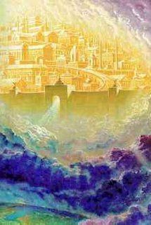nuevaJerusalen Pictures Of Jesus Christ, Bible Pictures, Kingdom Of Heaven, The Kingdom Of God, Heaven Pictures, Heaven Images, Heaven Art, Heaven Painting, New Jerusalem