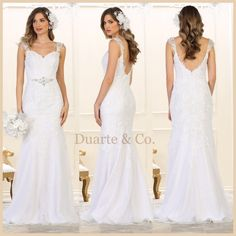 DC175731  355.00 Stunning Long Sleeveless Wedding Gown with hand beaded  embroiderer  amp  rhinestones over mesh 80c8f6f96