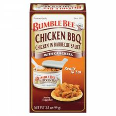 Bumble Bee® BBQ Chicken Salad with Crackers Kit - Savory BBQ chicken salad, mixed and ready to eat.