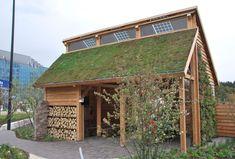 Groen Dak Compleet | Snel, eenvoudig en betaalbaar Sedum Roof, Tiny House Exterior, Carport Garage, Underground Garage, Space Architecture, Backyard Projects, Amazing Gardens, My Dream Home, Gazebo