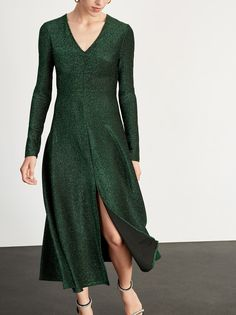 Lily Green Midi Dress | Women's Midi Party Dresses | KITRI Green Midi Dress, Long Sleeve Midi Dress, Fashion Editor, Day Dresses, Bridesmaid Dresses, Bridesmaids, Wrap Dress, Party Dress, Lily