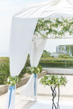 ウェスティンホテル淡路|結婚式場写真「お気に入りのお花でガゼボを演出!リゾートウエディングを満喫♪」 【みんなのウェディング】