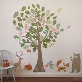 Oak Tree And Animals Woodland Wall Stickers