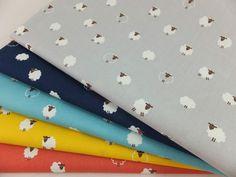 SB Little Lamb 100% Cotton Fabric sheep dressmaking per metre
