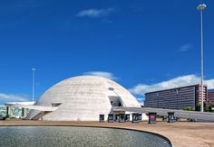 In Brasília, 2006 saw the completion of the Cultural Complex of the Republic, a plaza made up of the National Museum, set underneath a billowing dome with ramps that wind toward the entrance, and the modular National Library. The museum contains exhibition space, two auditoriums, and a laboratory.