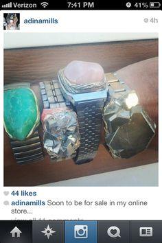 927ead6e4242e1 thehardwearshop: Adina Mills Ring Bracelet, Bracelet Watch, Jewelry Boards,  Ethnic Jewelry,