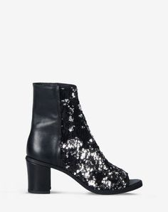 MM6 by MAISON MARGIELA Open-toe sequin ankle boots